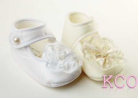 Style FJS020 Ivory~Girls Shoes